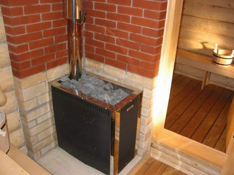 установка печки в русскую баню девать ржавые